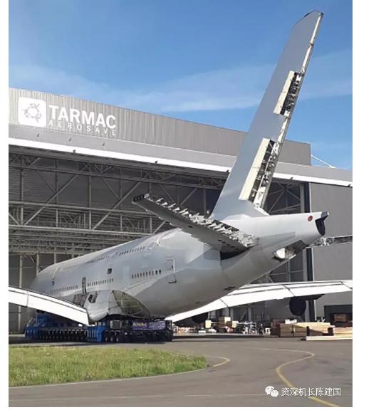首架被拆解的空客A380客机