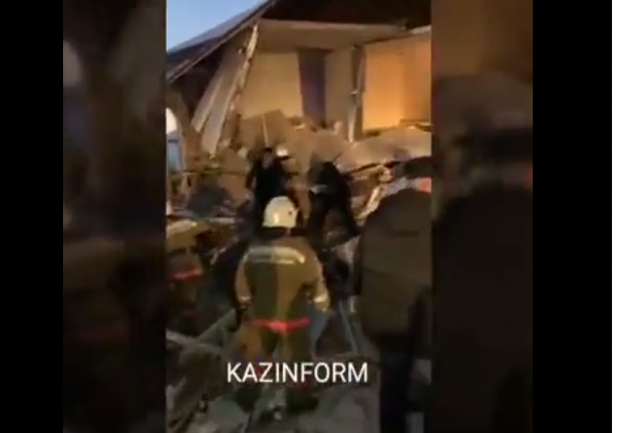 载有100人从哈萨克斯坦阿拉木图机场起飞客机坠毁