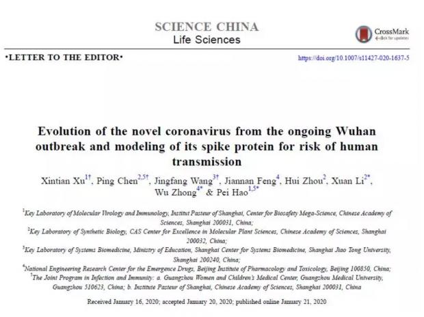 武汉新型冠状病毒的进化来源和传染人的分子作用通路
