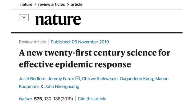 Nature呼吁:应对21世纪大规模流行病,各个学科必须联合起来