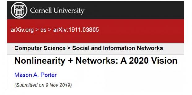 2020年网络科学的4个前沿方向:从时序网络到高阶网络