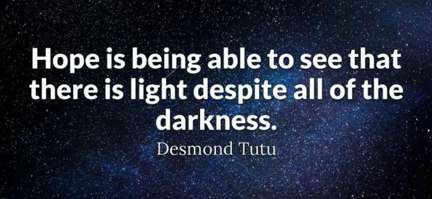 希望,是在彷彿无止境的漆黑中也能够看见一丝光明的力量  