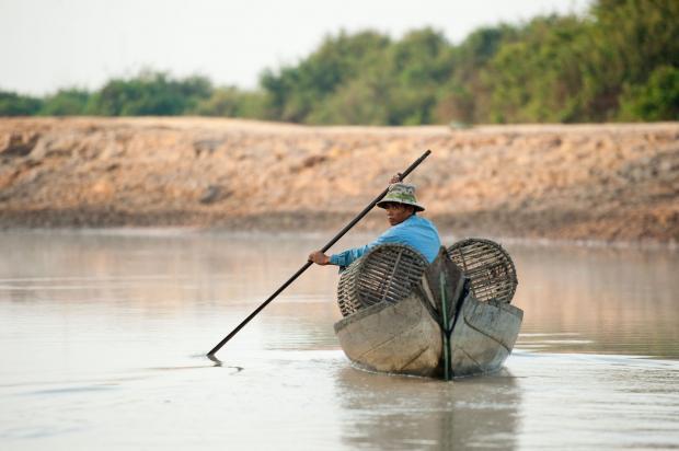 洞里萨湖保护的钥匙在湄公河上游