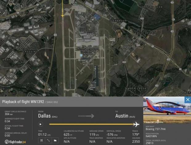 737飞机在接地时撞到跑道上的一个人