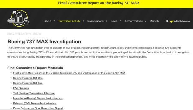 最终调查:两架737MAX坠毁的原因是波音工程师、波音公司管理层和美国FAA的共同造成