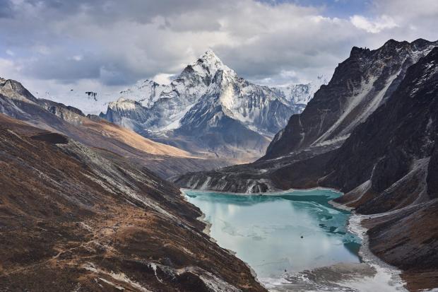 喜马拉雅冰川融化加大冰川湖威胁