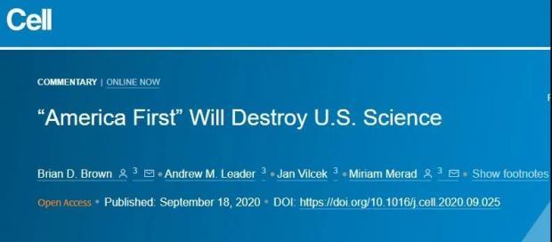 《自然》公开支持拜登,特朗普究竟对美国科学界做了什么?