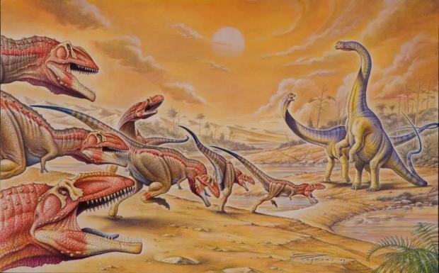给灭绝的恐龙称体重,总共分几步?