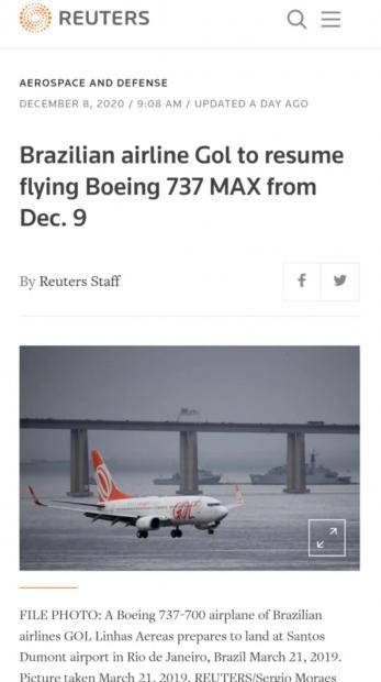 2021年大戏拉开序幕:737MAX开始商业航班飞行,COVID-19疫苗在英国注射