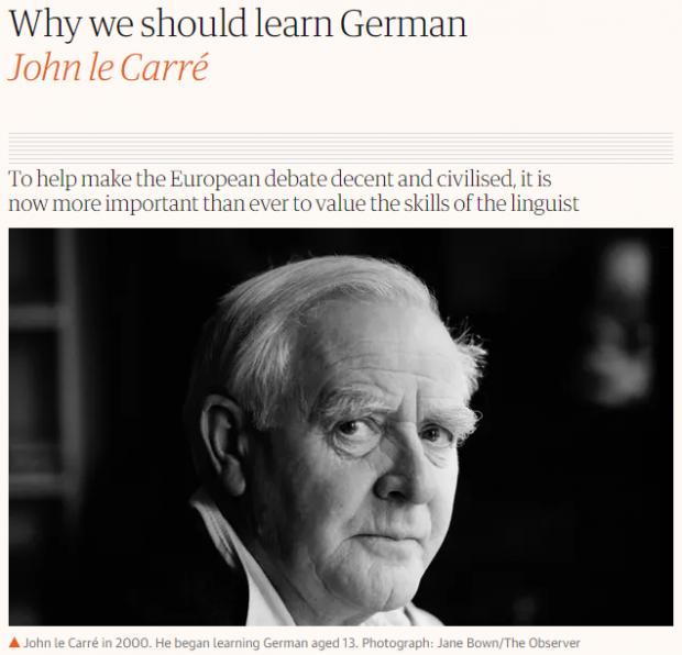 勒卡雷论学习外语:更好地了解自己