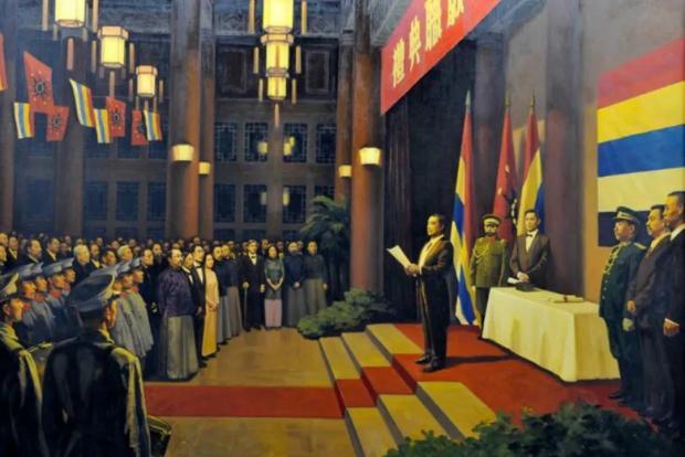 孙中山的大总统就职典礼学美国了吗?比一比就知道