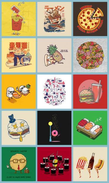 为什么T恤上没有中国美食?