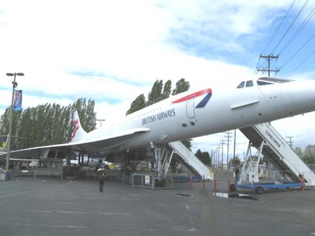 """西雅图飞行博物馆Museum of Flight 漫步之五:超音速的""""协和号"""""""