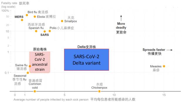 袭击南京的Delta毒株,和水痘一样容易传染