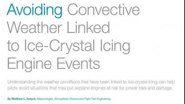 躲避对流天气相关的发动机冰晶积冰事件(1)